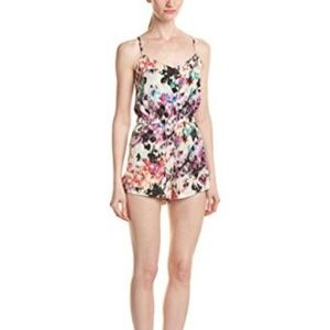 Parker romper small, 100% silk, print Scout